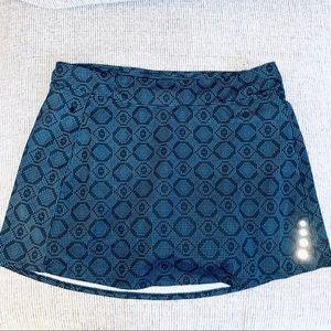 Llbean M skirt skort athletic blue gray L.L.Bean